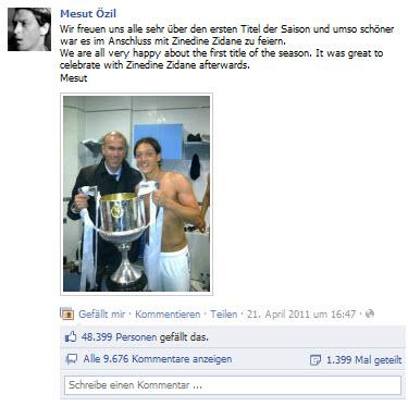 mesut Özil mit Zinedane Zidane