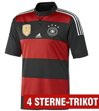 Das schwarz-rote WM 2014 Auswärtstrikot von Deutschland