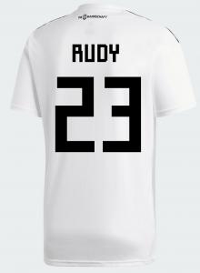 Die Nr. 23 ist die aktuelle Rückennummer von Sebastian Rudy im DFB Trikot 2018.
