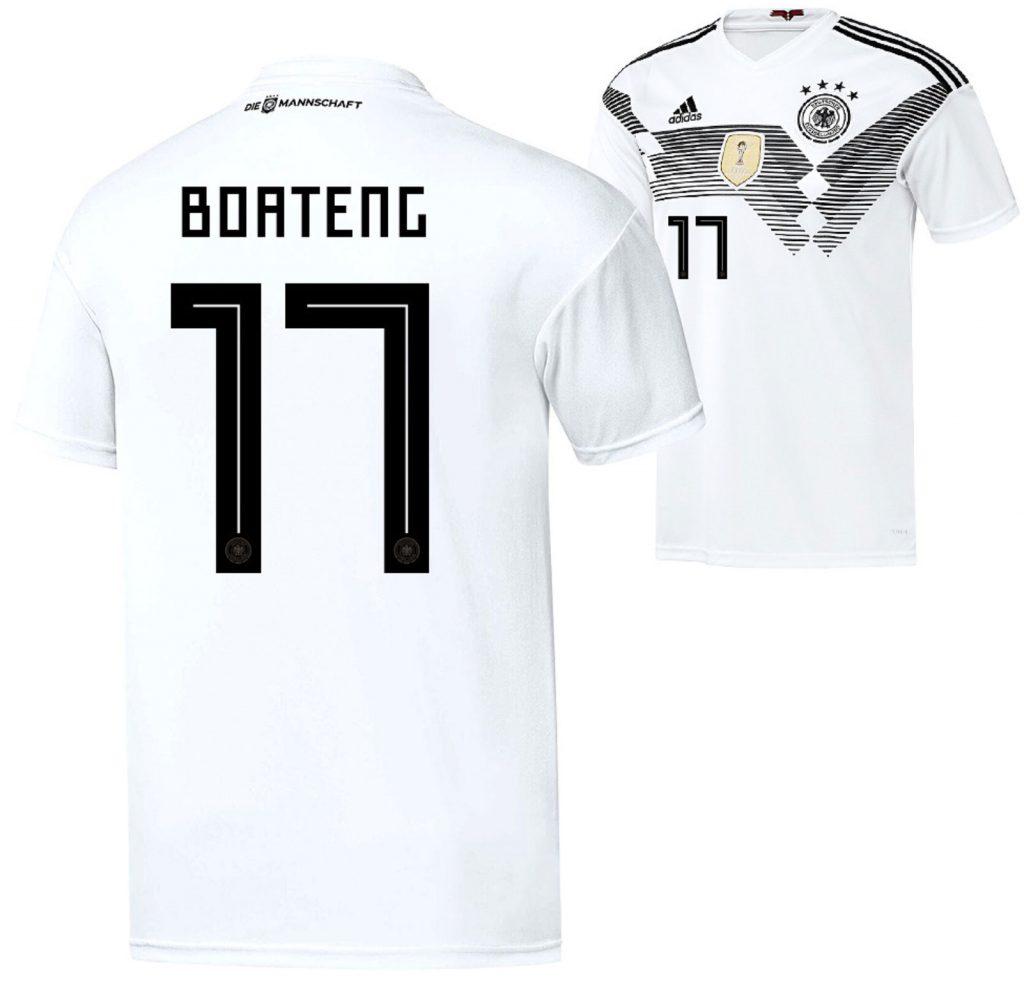 Jerome Boateng trägt die Nummer 17 im Deutschland Trikot.
