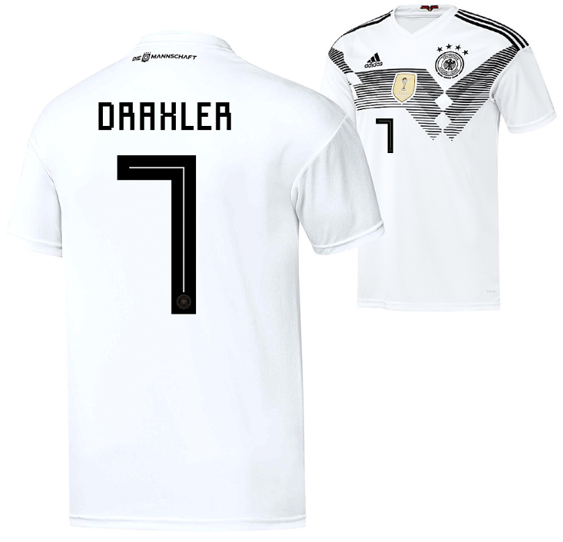 Die Rückennummer 7 ist die Nummer von Julian Draxler im DFB Trikot 2018.