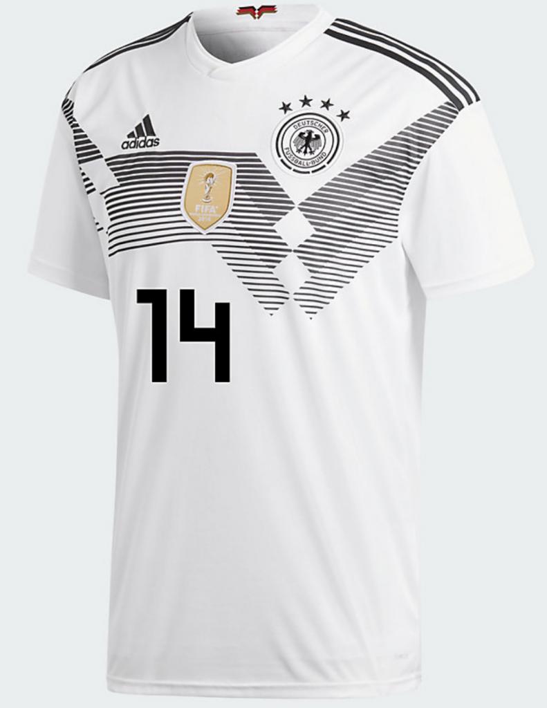 Das DFB Trikot von Emre Can mit der Nummer 14 auf dem Rücken.
