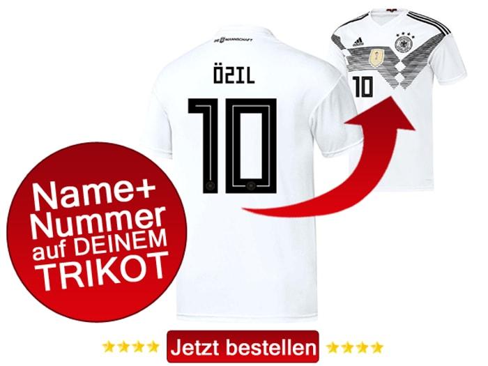 Mesut Özil trägt im aktuellen Deutschland Trikot die Nummer 10 auf dem Rücken