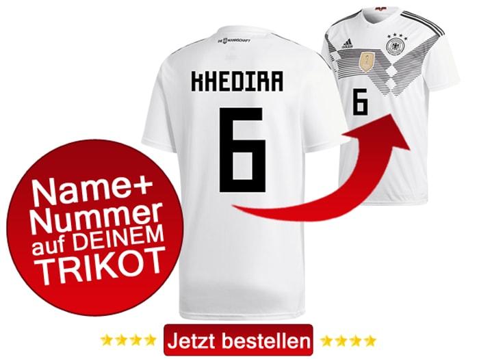 DFB Trikot Nr.6 trägt Sami Khedira